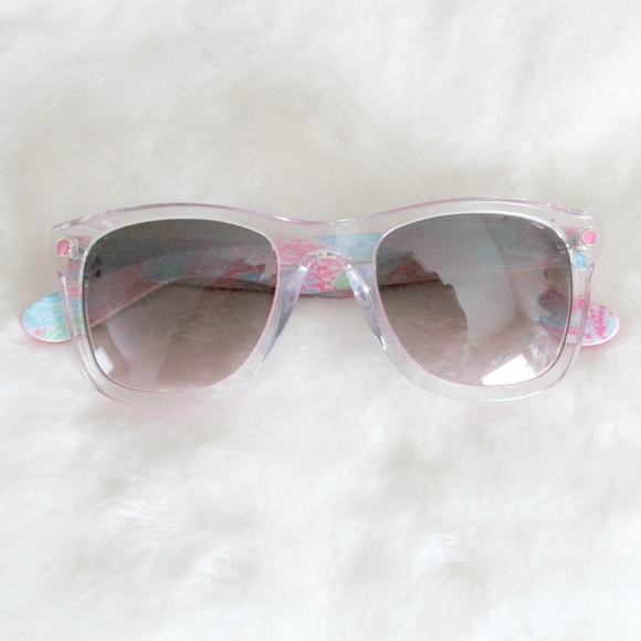 498bae884a Lilly Pulitzer Clear Pink Acetate Gabby Sunglasses